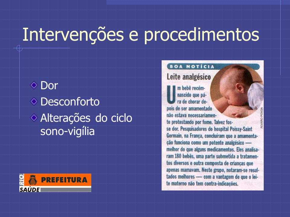 Intervenções e procedimentos
