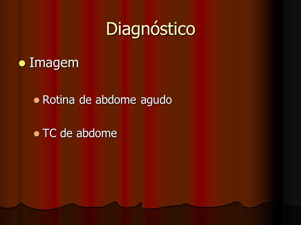 Diagnóstico Imagem Rotina de abdome agudo TC de abdome