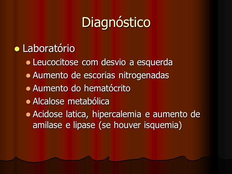 Diagnóstico Laboratório Leucocitose com desvio a esquerda