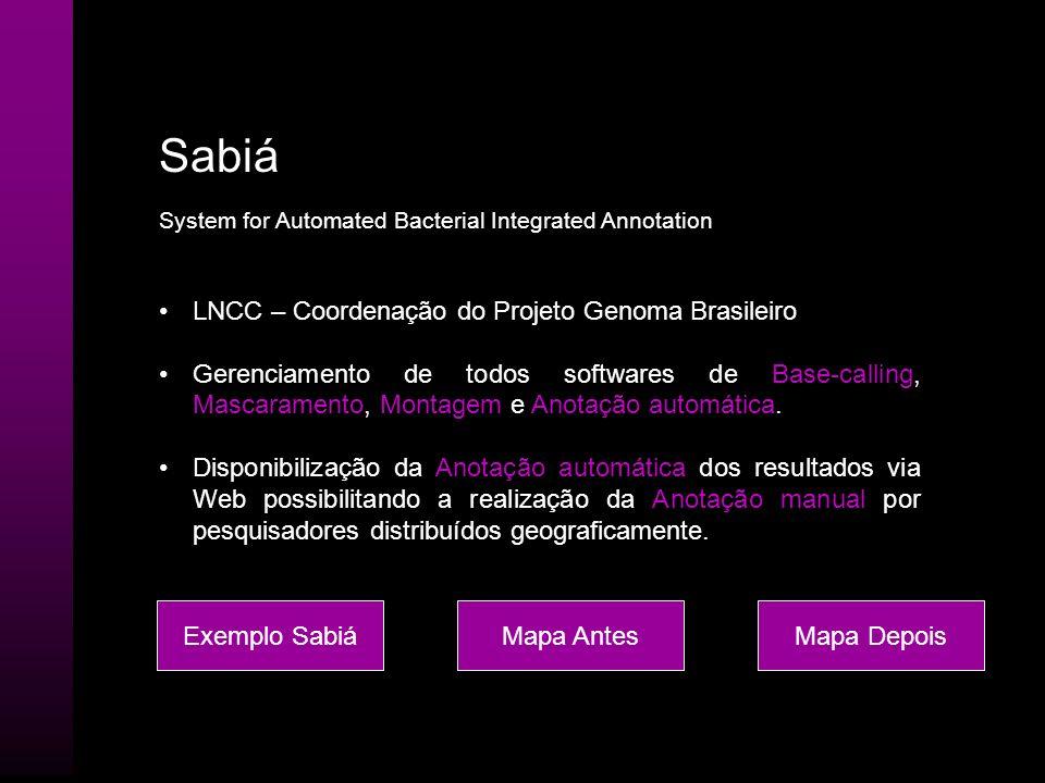 Sabiá LNCC – Coordenação do Projeto Genoma Brasileiro