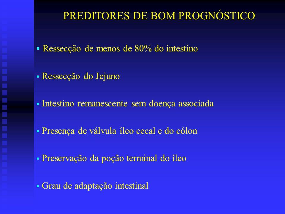 PREDITORES DE BOM PROGNÓSTICO