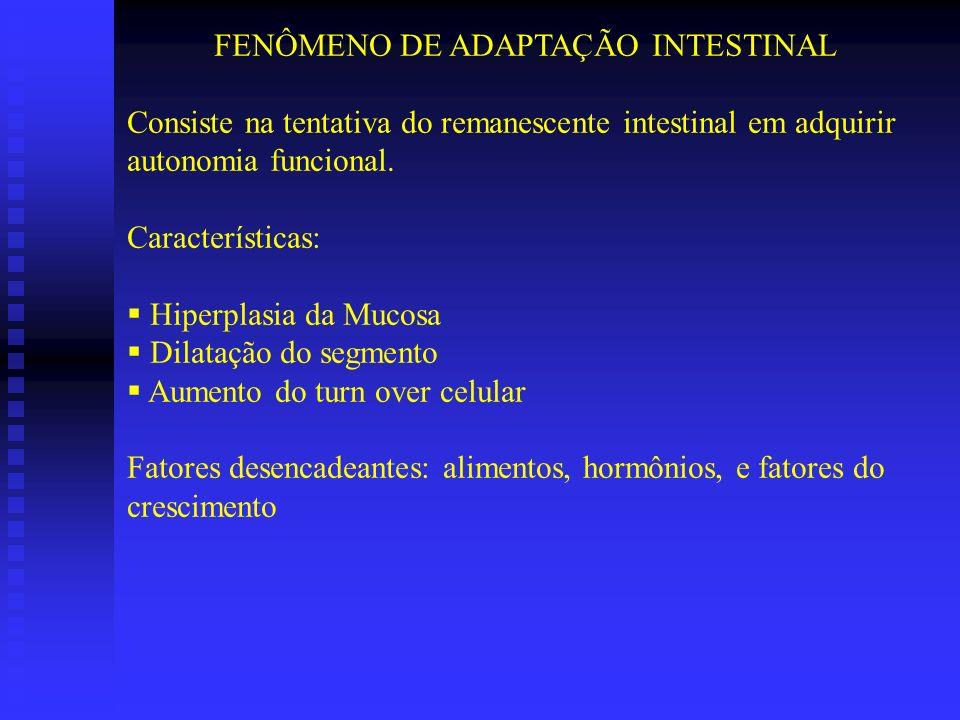 FENÔMENO DE ADAPTAÇÃO INTESTINAL