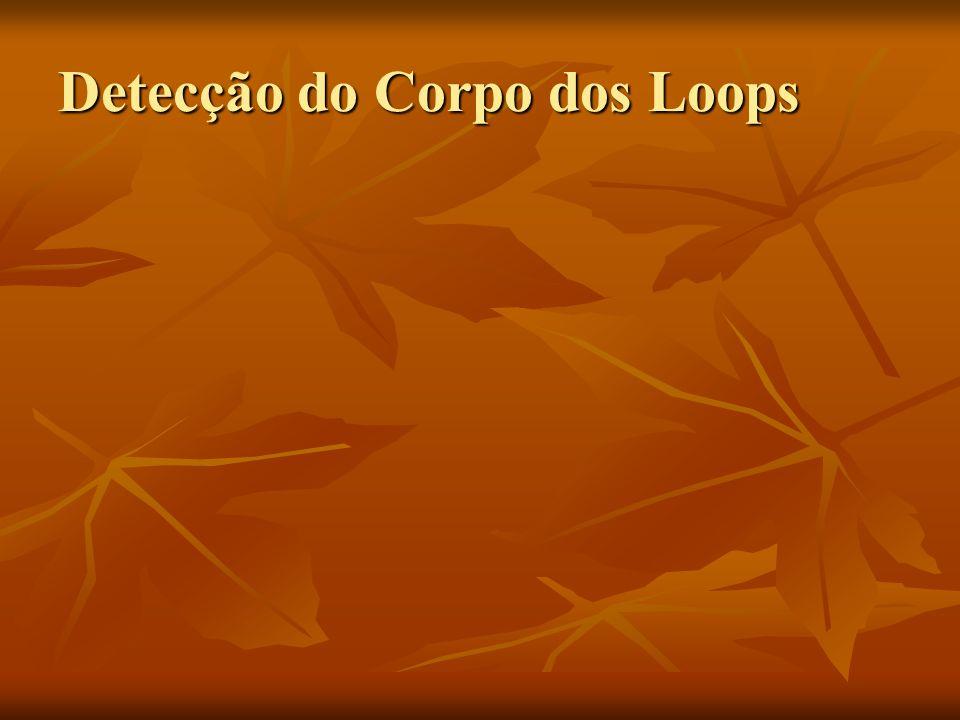 Detecção do Corpo dos Loops