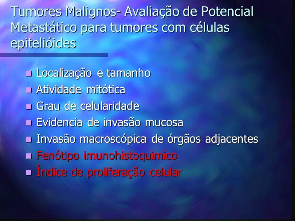 Tumores Malignos- Avaliação de Potencial Metastático para tumores com células epitelióides