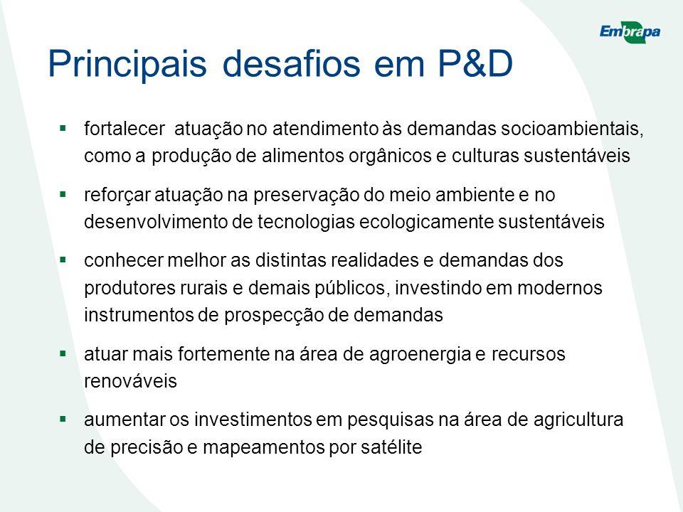 Principais desafios em P&D