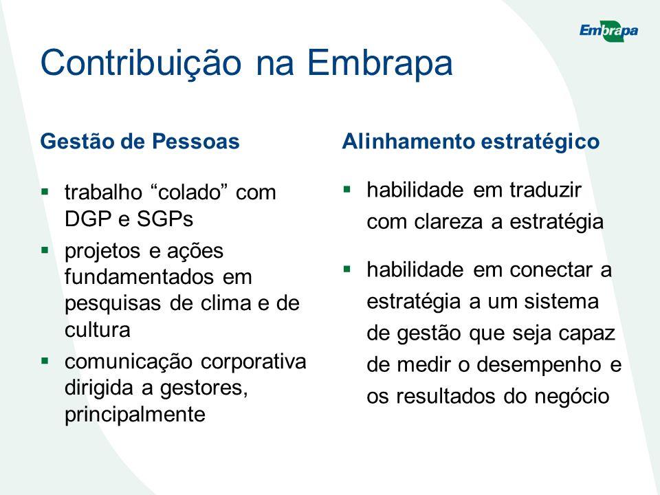 Contribuição na Embrapa
