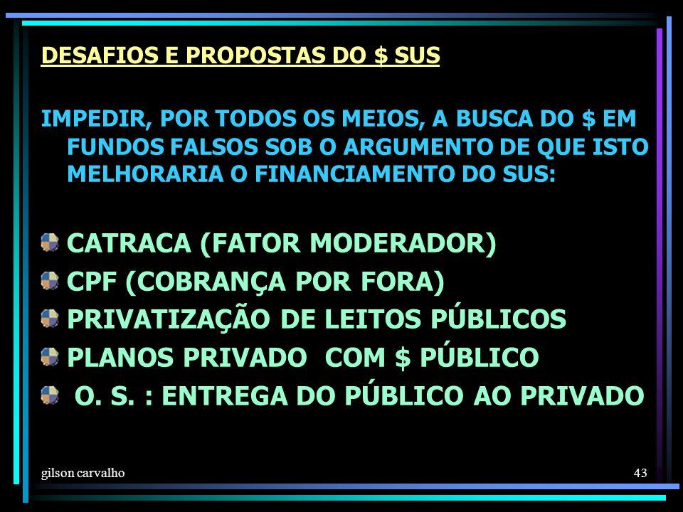 DESAFIOS E PROPOSTAS DO $ SUS