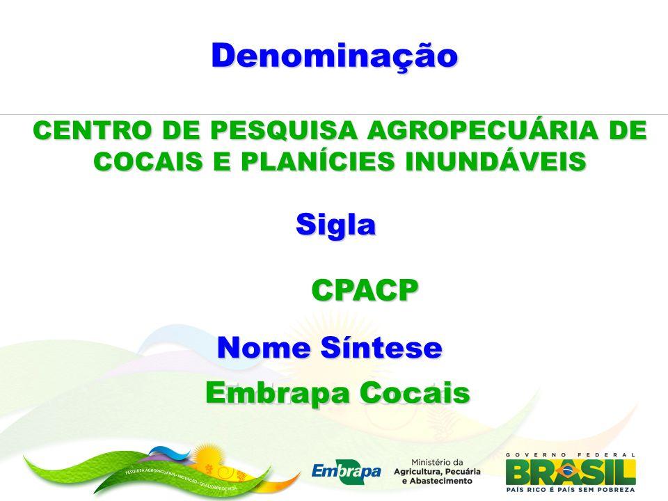 CENTRO DE PESQUISA AGROPECUÁRIA DE COCAIS E PLANÍCIES INUNDÁVEIS