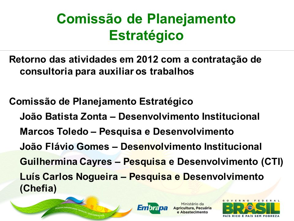 Comissão de Planejamento Estratégico