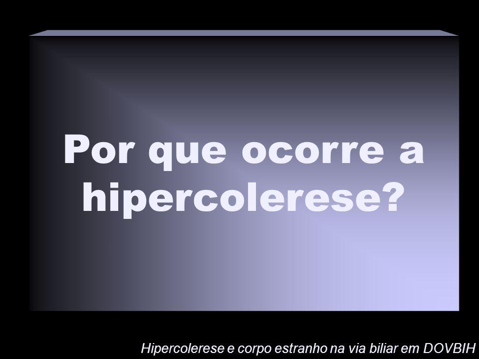 Por que ocorre a hipercolerese