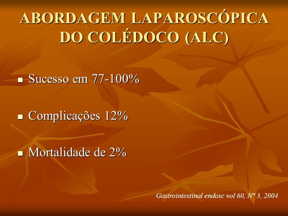 ABORDAGEM LAPAROSCÓPICA DO COLÉDOCO (ALC)