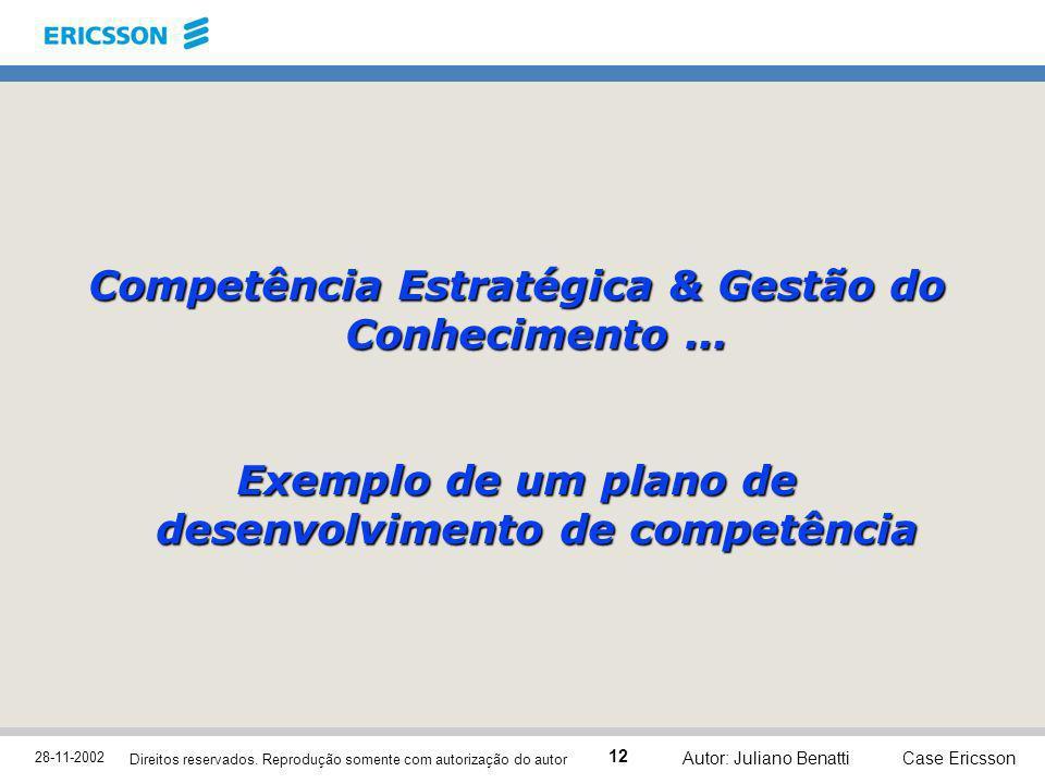 Competência Estratégica & Gestão do Conhecimento ...