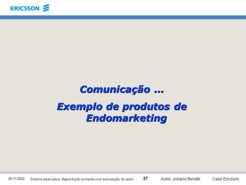 Exemplo de produtos de Endomarketing