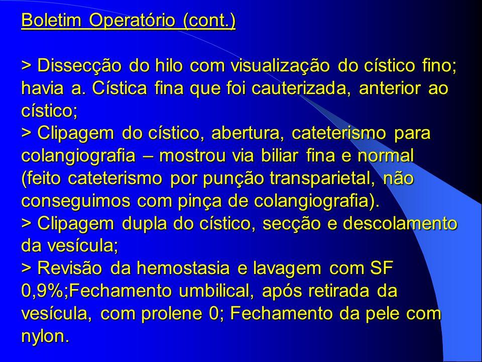 Boletim Operatório (cont