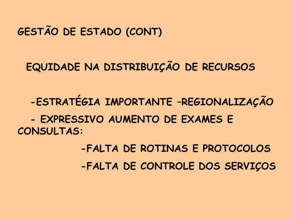 GESTÃO DE ESTADO (CONT)