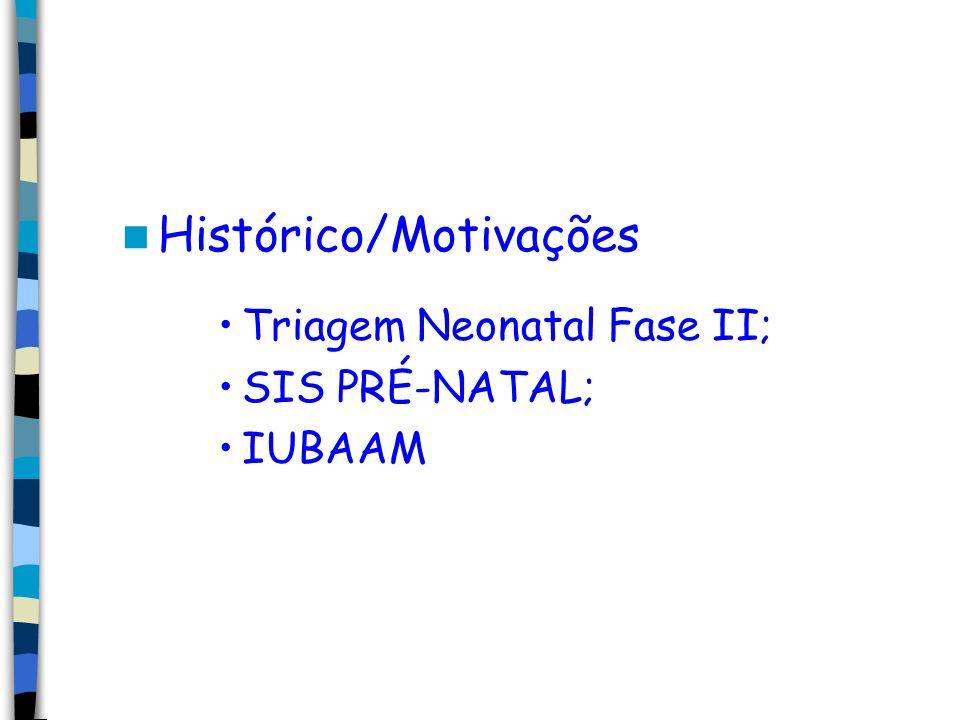 Histórico/Motivações