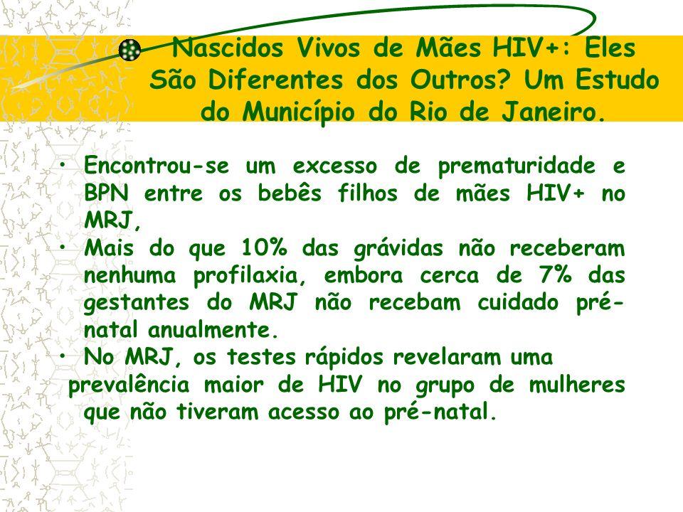 Nascidos Vivos de Mães HIV+: Eles São Diferentes dos Outros