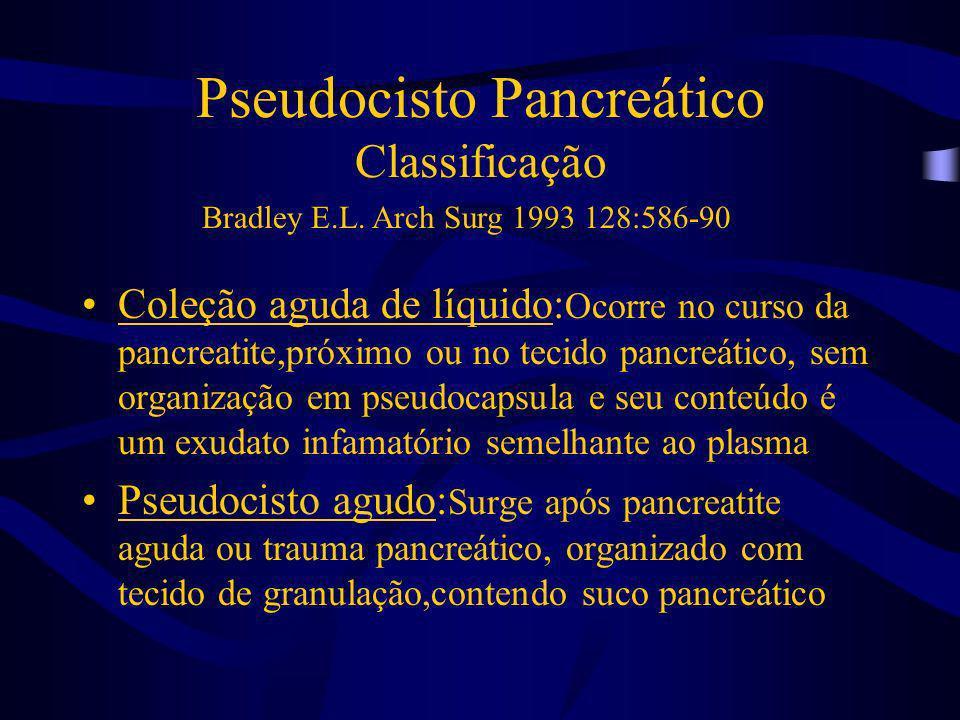 Pseudocisto Pancreático Classificação