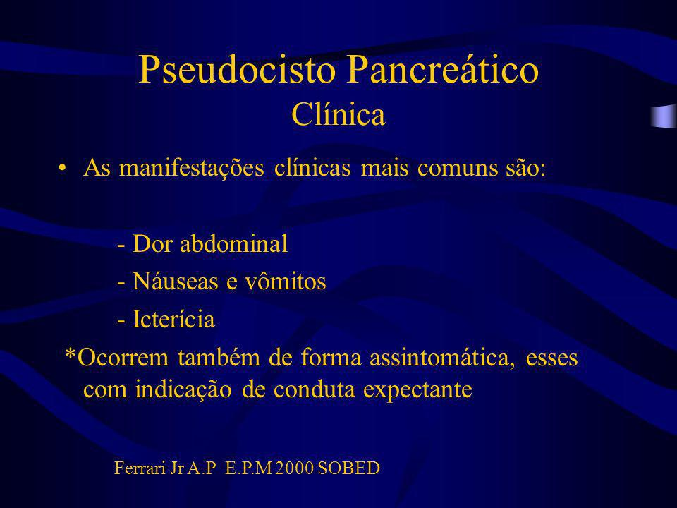 Pseudocisto Pancreático Clínica