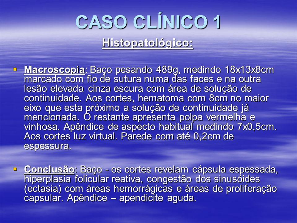 CASO CLÍNICO 1 Histopatológico: