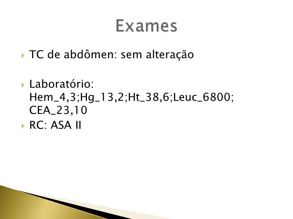 Exames TC de abdômen: sem alteração
