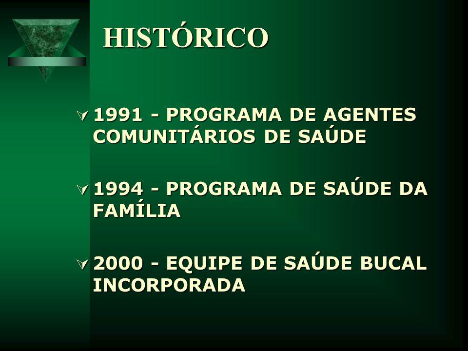 HISTÓRICO 1991 - PROGRAMA DE AGENTES COMUNITÁRIOS DE SAÚDE