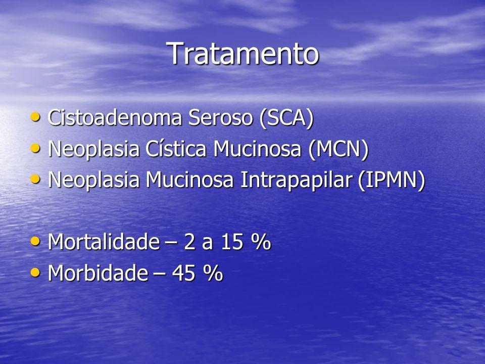 Tratamento Cistoadenoma Seroso (SCA) Neoplasia Cística Mucinosa (MCN)