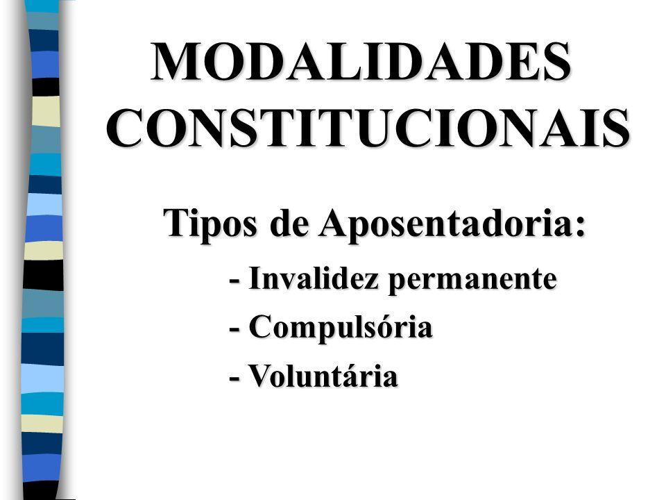 MODALIDADES CONSTITUCIONAIS