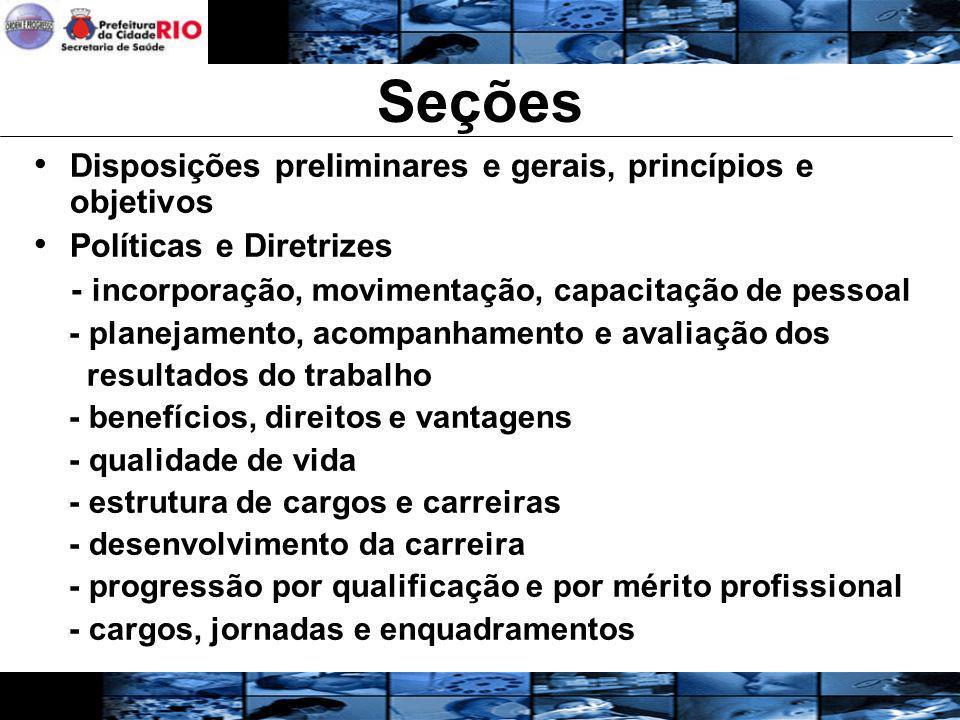 Seções Disposições preliminares e gerais, princípios e objetivos