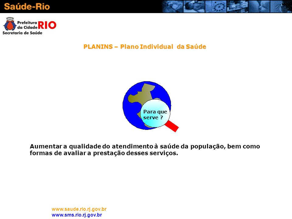 PLANINS – Plano Individual da Saúde