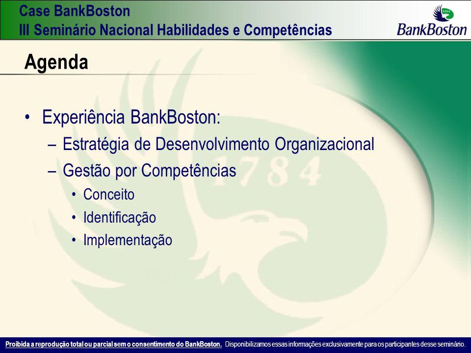 Agenda Experiência BankBoston: