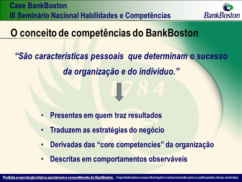 O conceito de competências do BankBoston