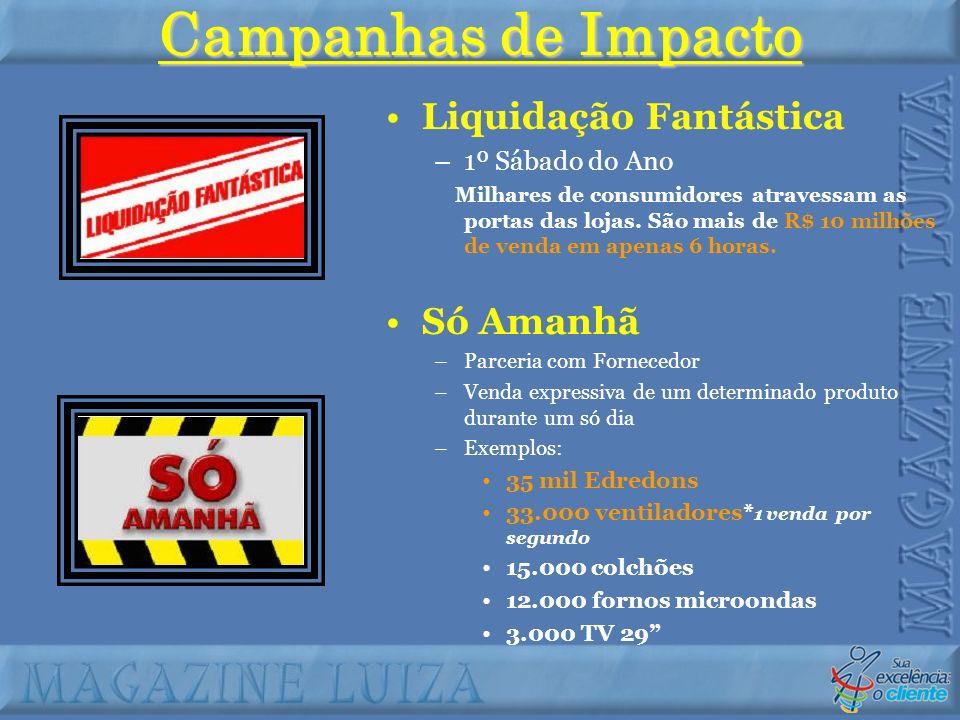 Campanhas de Impacto Liquidação Fantástica Só Amanhã 1º Sábado do Ano