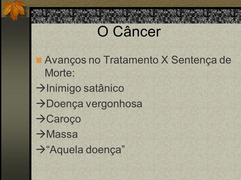 O Câncer Avanços no Tratamento X Sentença de Morte: Inimigo satânico