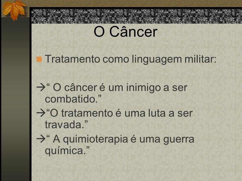 O Câncer Tratamento como linguagem militar: