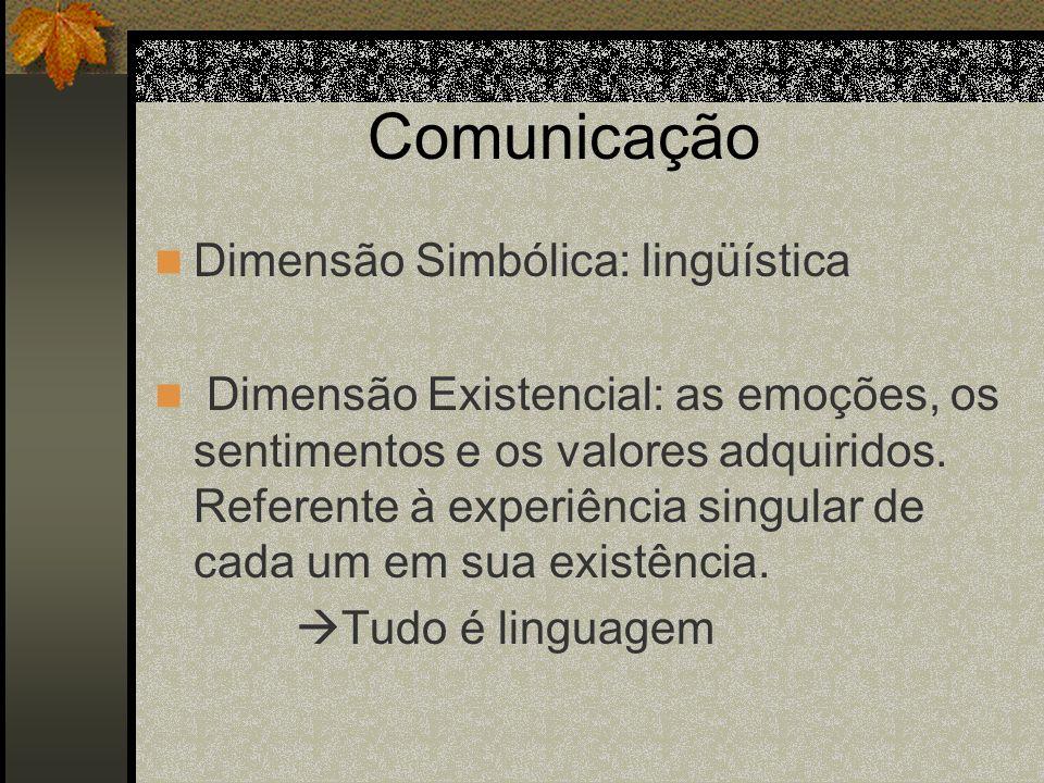 Comunicação Dimensão Simbólica: lingüística