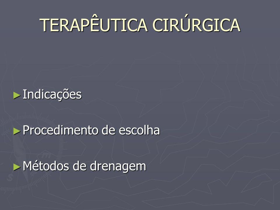 TERAPÊUTICA CIRÚRGICA