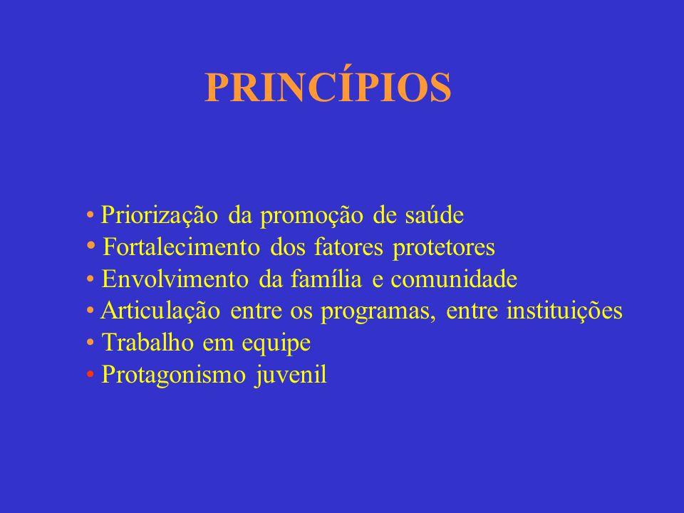 PRINCÍPIOS Fortalecimento dos fatores protetores