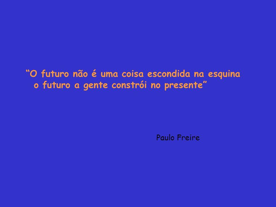 O futuro não é uma coisa escondida na esquina