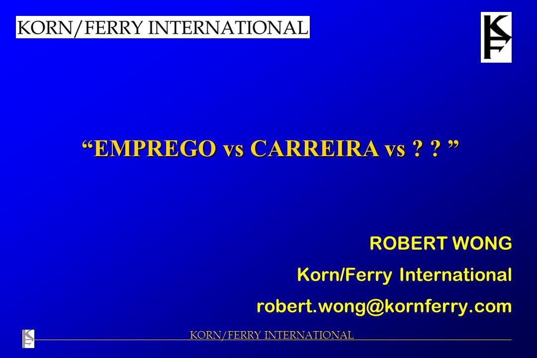 EMPREGO vs CARREIRA vs