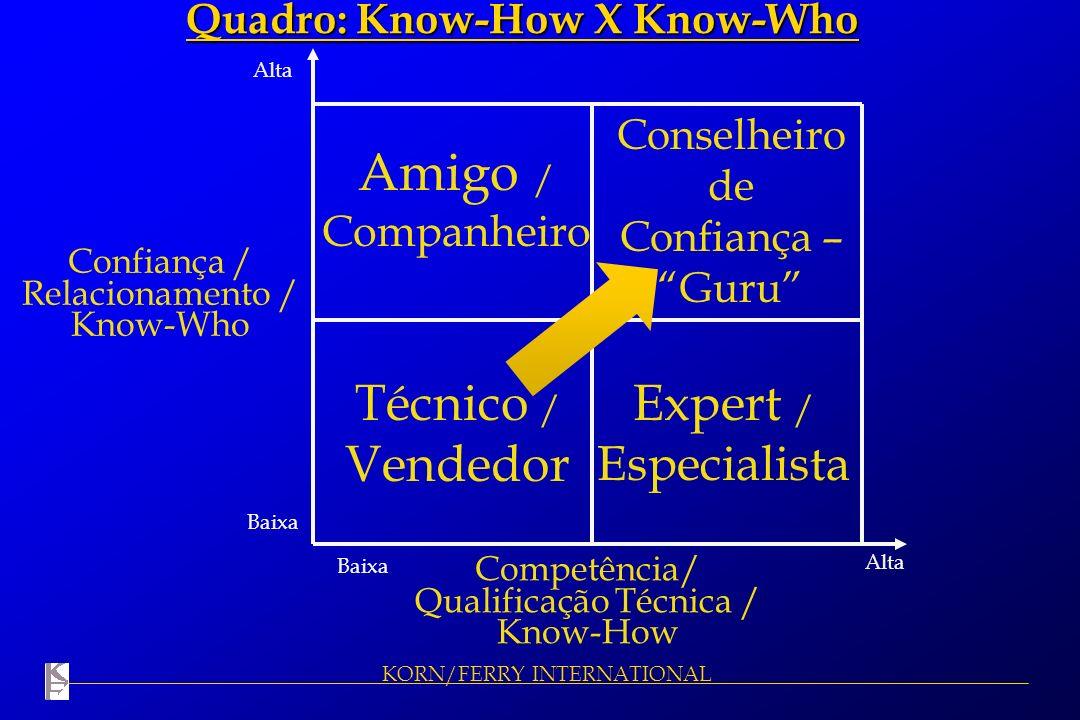 Amigo / Companheiro Técnico / Vendedor Expert / Especialista
