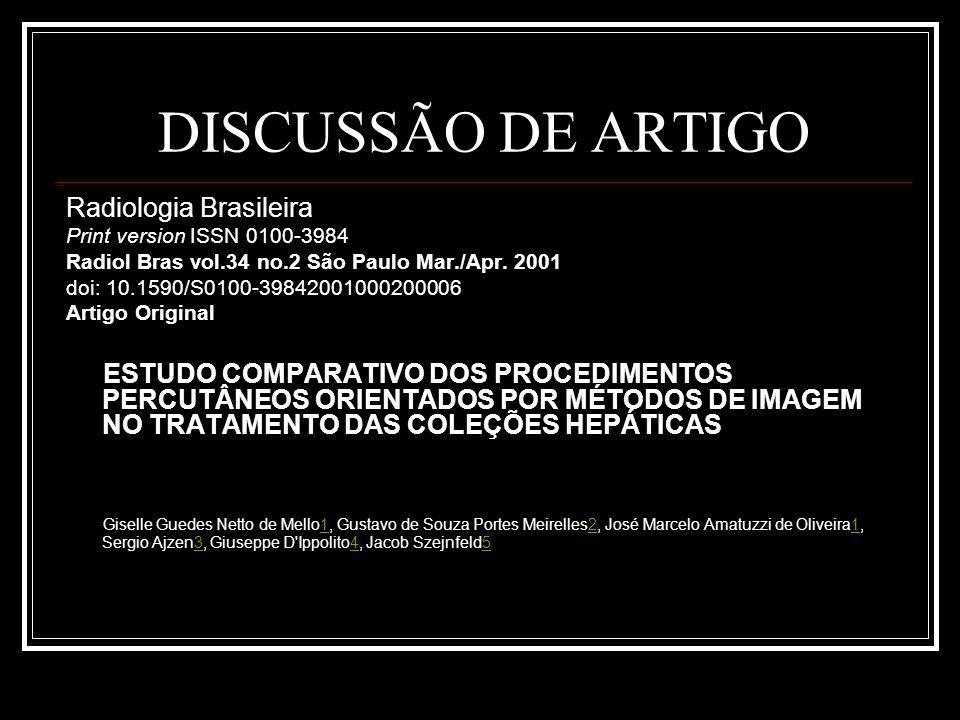 DISCUSSÃO DE ARTIGO Radiologia Brasileira