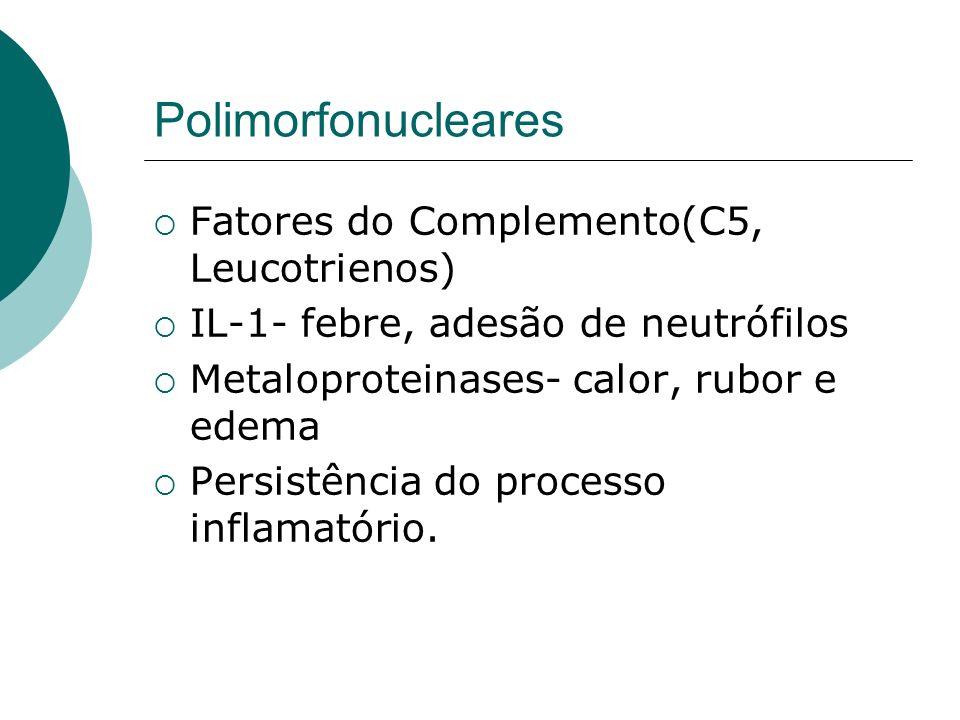 Polimorfonucleares Fatores do Complemento(C5, Leucotrienos)