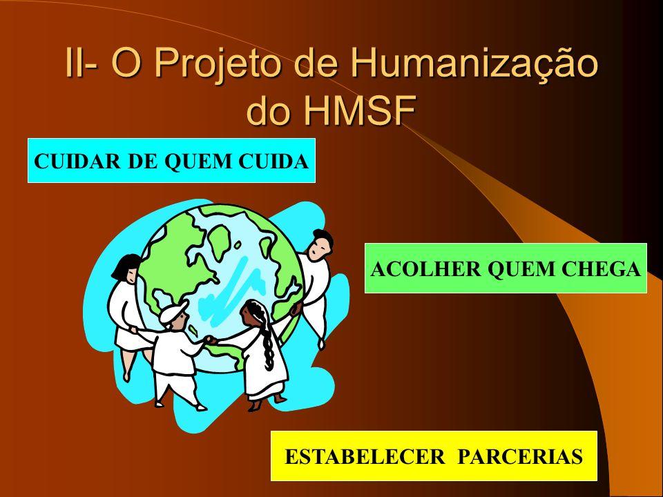 II- O Projeto de Humanização do HMSF