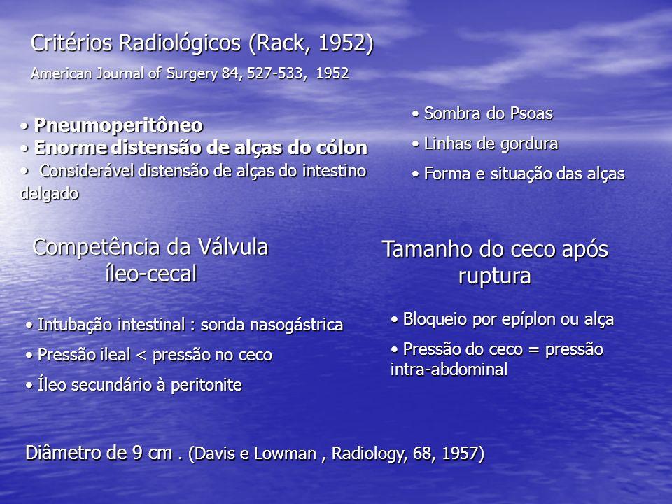 Critérios Radiológicos (Rack, 1952)