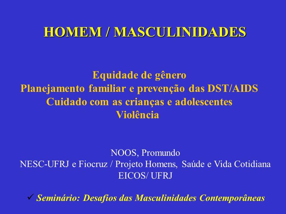 HOMEM / MASCULINIDADES