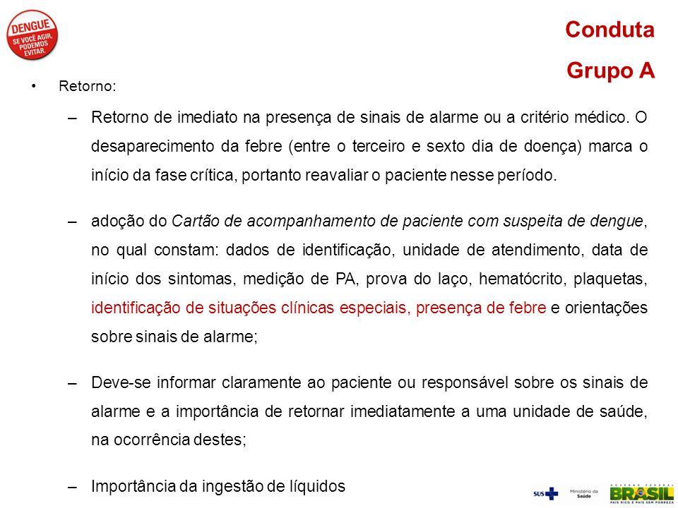 Conduta Grupo A Retorno: