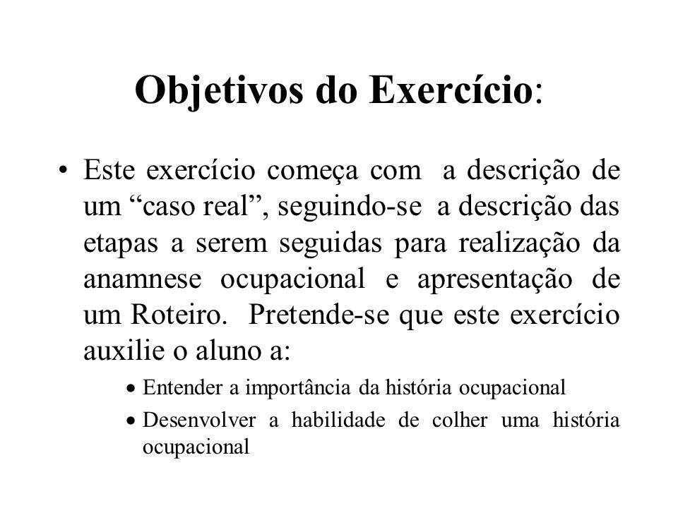 Objetivos do Exercício: