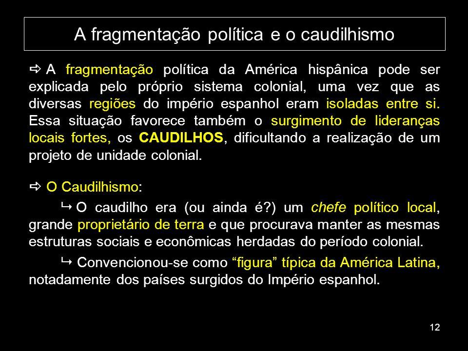 A fragmentação política e o caudilhismo