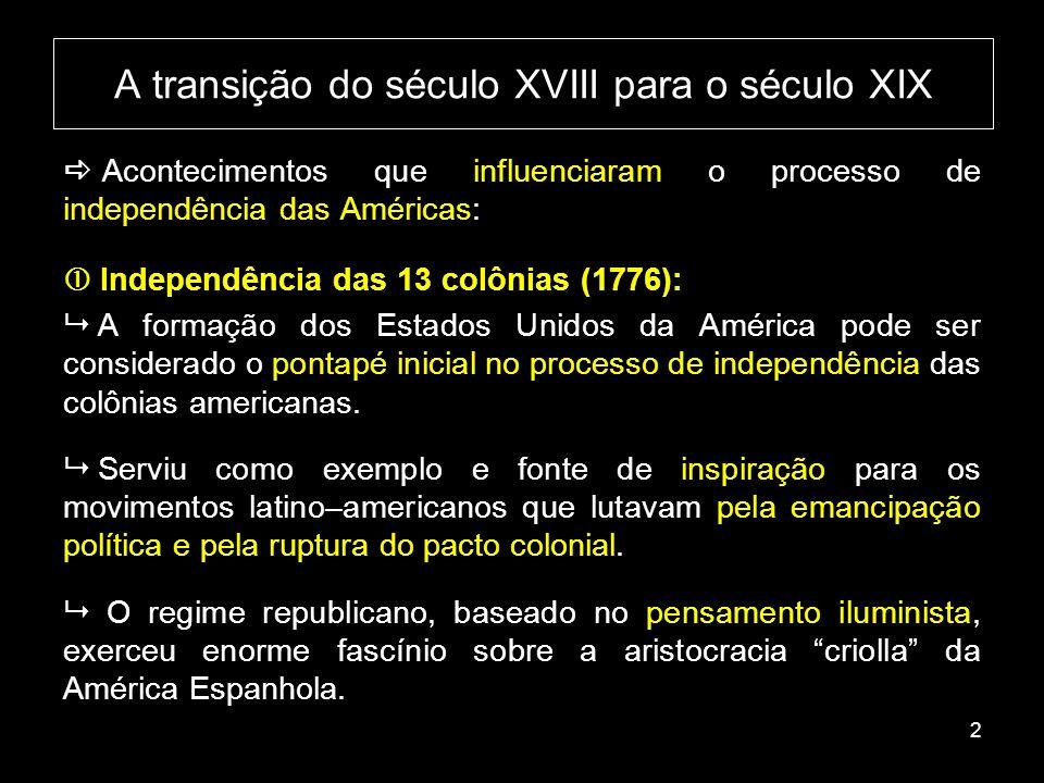 A transição do século XVIII para o século XIX